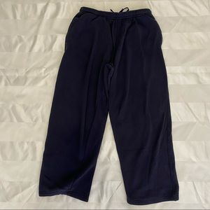 Men's navy sweatpants for relaxing or warm up